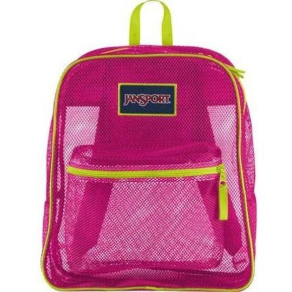 Jansport Mesh Cyber Pink Backpack School Book Bag NWT